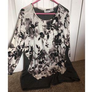 EUC Sag Harbor Women's Tunic Shirt Size 1X